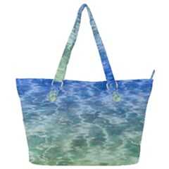 Water Blue Transparent Crystal Full Print Shoulder Bag