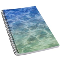 Water Blue Transparent Crystal 5 5  X 8 5  Notebook by HermanTelo