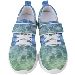 Water Blue Transparent Crystal Women s Velcro Strap Shoes by HermanTelo