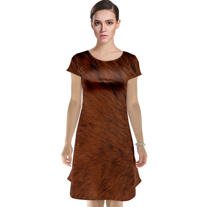 Fur Skin Bear Cap Sleeve Nightdress