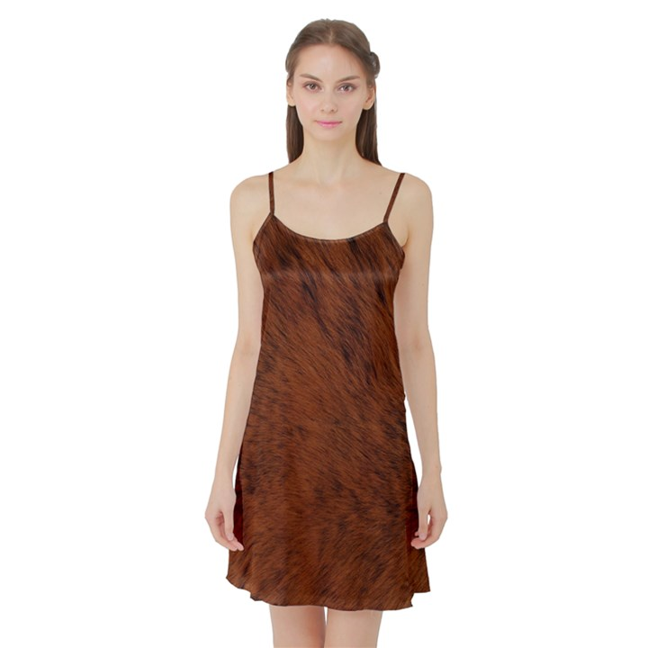 Fur Skin Bear Satin Night Slip