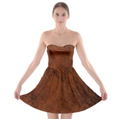 Fur Skin Bear Strapless Bra Top Dress