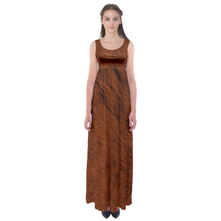 Fur Skin Bear Empire Waist Maxi Dress