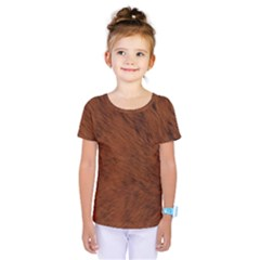 Fur Skin Bear Kids  One Piece Tee