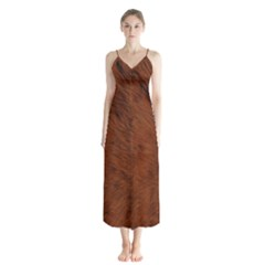 Fur Skin Bear Button Up Chiffon Maxi Dress by HermanTelo