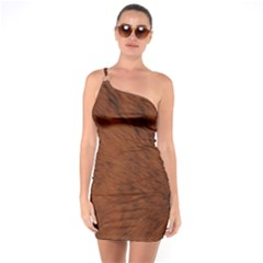 Fur Skin Bear One Soulder Bodycon Dress
