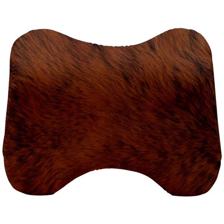 Fur Skin Bear Head Support Cushion