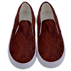 Fur Skin Bear Kids  Canvas Slip Ons