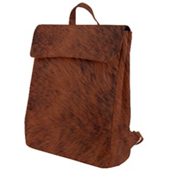 Fur Skin Bear Flap Top Backpack