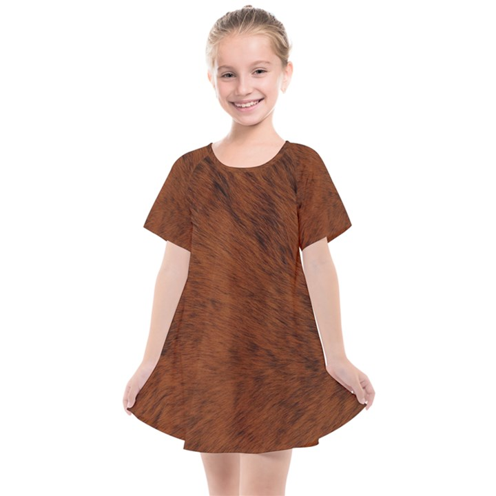 Fur Skin Bear Kids  Smock Dress