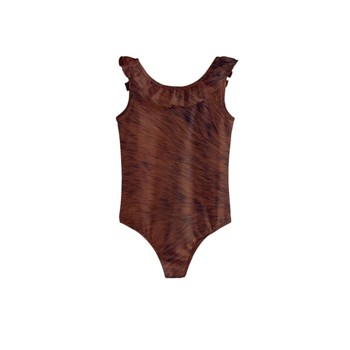 Fur Skin Bear Kids  Frill Swimsuit