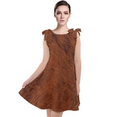 Fur Skin Bear Tie Up Tunic Dress by HermanTelo