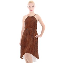 Fur Skin Bear High Low Halter Chiffon Dress  by HermanTelo