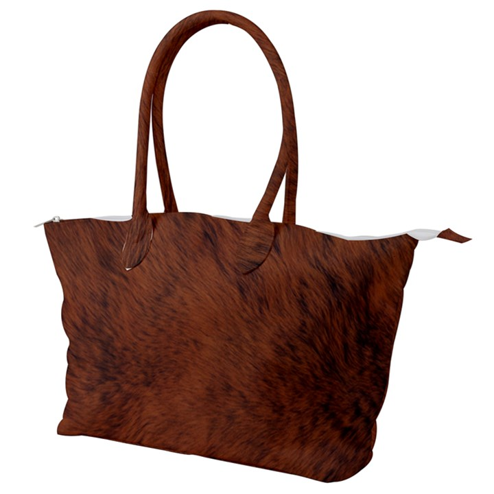 Fur Skin Bear Canvas Shoulder Bag