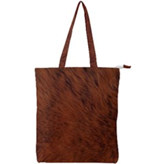Fur Skin Bear Double Zip Up Tote Bag