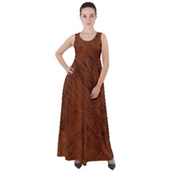 Fur Skin Bear Empire Waist Velour Maxi Dress by HermanTelo