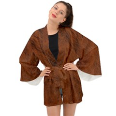 Fur Skin Bear Long Sleeve Kimono by HermanTelo