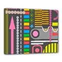 Pattern Geometric Abstract Colorful Arrows Lines Circles Triangles Canvas 20  x 16  (Stretched) View1