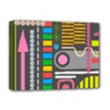 Pattern Geometric Abstract Colorful Arrows Lines Circles Triangles Deluxe Canvas 16  x 12  (Stretched)  View1