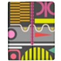 Pattern Geometric Abstract Colorful Arrows Lines Circles Triangles Apple iPad 3/4 Flip Case View1