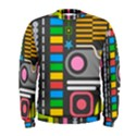 Pattern Geometric Abstract Colorful Arrows Lines Circles Triangles Men s Sweatshirt View1