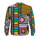 Pattern Geometric Abstract Colorful Arrows Lines Circles Triangles Men s Sweatshirt View2