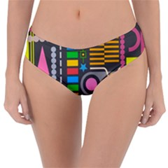 Pattern Geometric Abstract Colorful Arrows Lines Circles Triangles Reversible Classic Bikini Bottoms