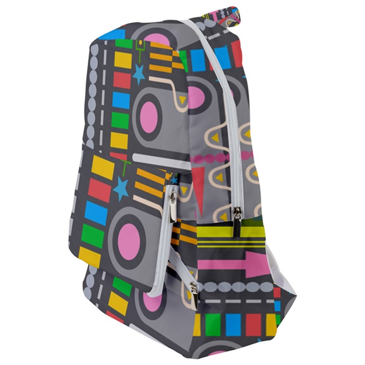 Pattern Geometric Abstract Colorful Arrows Lines Circles Triangles Travelers  Backpack