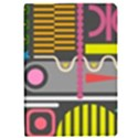 Pattern Geometric Abstract Colorful Arrows Lines Circles Triangles Apple iPad Pro 9.7   Flip Case View1