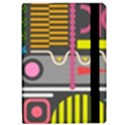 Pattern Geometric Abstract Colorful Arrows Lines Circles Triangles Apple iPad Pro 9.7   Flip Case View2