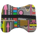 Pattern Geometric Abstract Colorful Arrows Lines Circles Triangles Head Support Cushion View2
