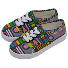 Pattern Geometric Abstract Colorful Arrows Lines Circles Triangles Kids  Classic Low Top Sneakers by Vaneshart
