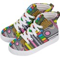 Pattern Geometric Abstract Colorful Arrows Lines Circles Triangles Kids  Hi-Top Skate Sneakers View2