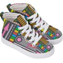 Pattern Geometric Abstract Colorful Arrows Lines Circles Triangles Kids  Hi-Top Skate Sneakers View3