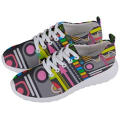 Pattern Geometric Abstract Colorful Arrows Lines Circles Triangles Men s Lightweight Sports Shoes by Vaneshart
