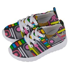 Pattern Geometric Abstract Colorful Arrows Lines Circles Triangles Kids  Lightweight Sports Shoes by Vaneshart