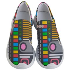Pattern Geometric Abstract Colorful Arrows Lines Circles Triangles Women s Lightweight Slip Ons by Vaneshart