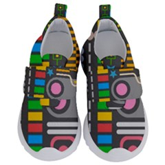 Pattern Geometric Abstract Colorful Arrows Lines Circles Triangles Kids  Velcro No Lace Shoes by Vaneshart