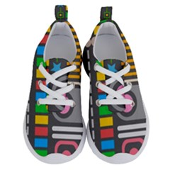 Pattern Geometric Abstract Colorful Arrows Lines Circles Triangles Running Shoes by Vaneshart