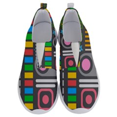 Pattern Geometric Abstract Colorful Arrows Lines Circles Triangles No Lace Lightweight Shoes by Vaneshart