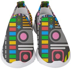 Pattern Geometric Abstract Colorful Arrows Lines Circles Triangles Kids  Slip On Sneakers by Vaneshart