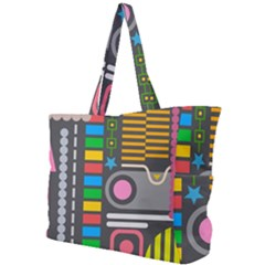 Pattern Geometric Abstract Colorful Arrows Lines Circles Triangles Simple Shoulder Bag