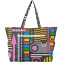 Pattern Geometric Abstract Colorful Arrows Lines Circles Triangles Simple Shoulder Bag View3