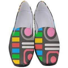 Pattern Geometric Abstract Colorful Arrows Lines Circles Triangles Women s Classic Loafer Heels by Vaneshart