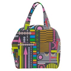 Pattern Geometric Abstract Colorful Arrows Lines Circles Triangles Boxy Hand Bag
