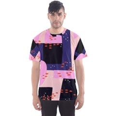 Vibrant Tropical Dot Patterns Men s Sports Mesh Tee by Vaneshart