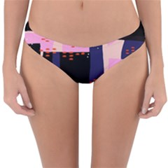 Vibrant Tropical Dot Patterns Reversible Hipster Bikini Bottoms