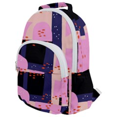 Vibrant Tropical Dot Patterns Rounded Multi Pocket Backpack by Vaneshart