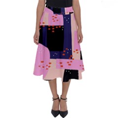 Vibrant Tropical Dot Patterns Perfect Length Midi Skirt