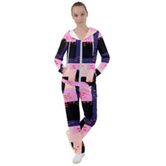Vibrant Tropical Dot Patterns Women s Tracksuit